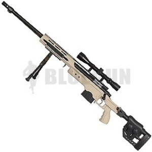 [WELL] 4411 (플룻바렐/폴딩스톡) ACG Sniper Rifle - TAN -