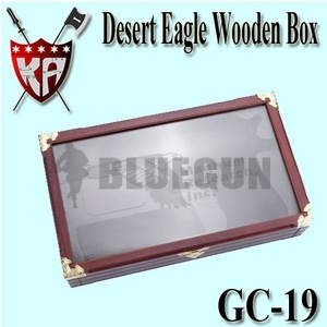 [K.A] Desert Eagle Wooden Box With Glass
