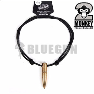 [2Monkey] 50Cal BMG Paracord Necklace (Black) - 2몽키 50Cal BMG 파라코드 목걸이 (블랙) (#8-15)