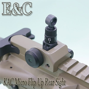 [E&C] KAC Micro Rear Sight / DE (#18M)