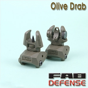 FAB Defense Backup Sights / OD